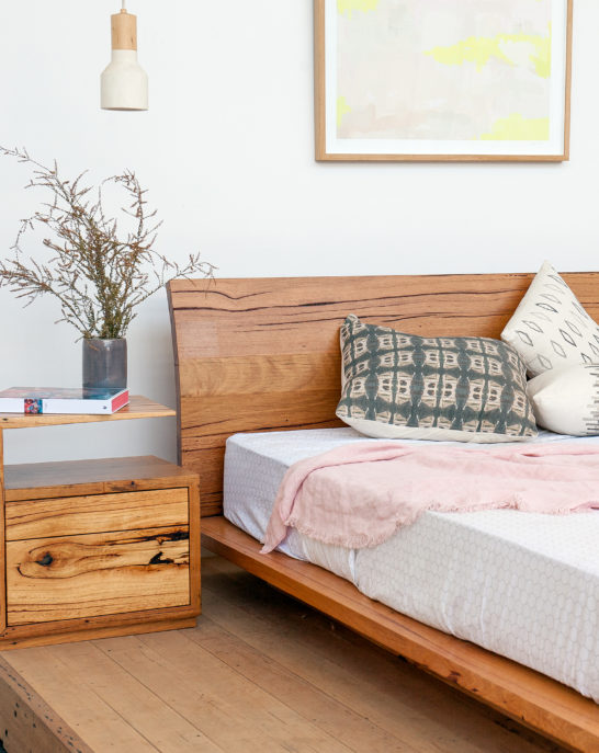 Summer Sunrise Platform Wooden Bed