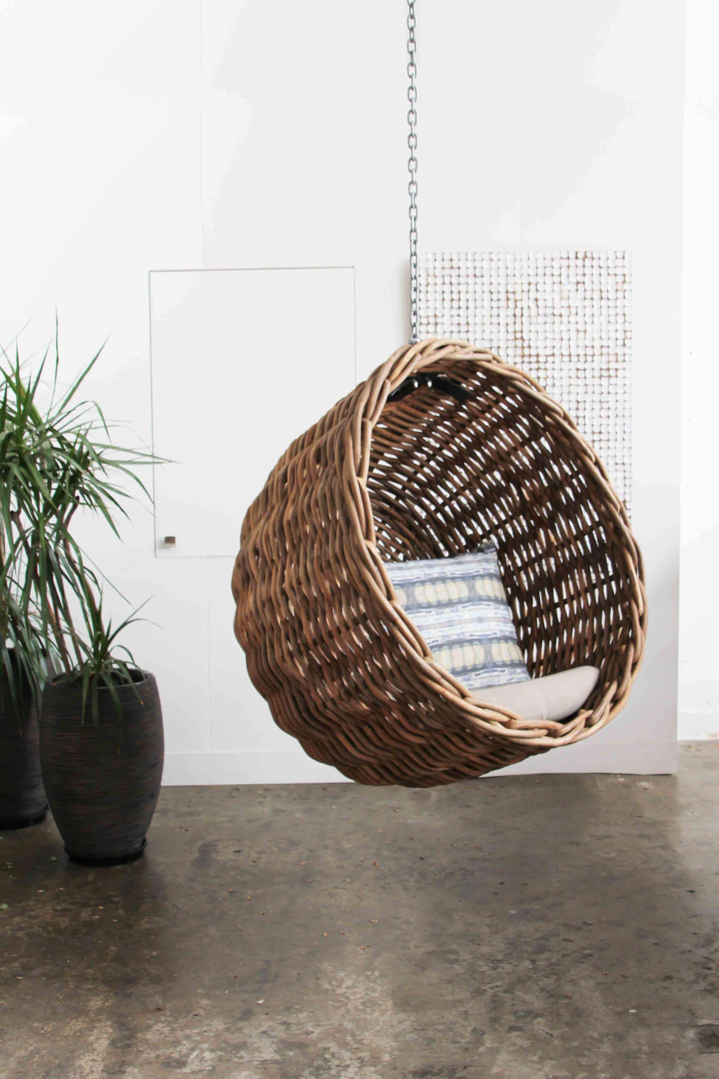 Zulu Hanging Chair Recycled Timber Furniture Melbourne Yard