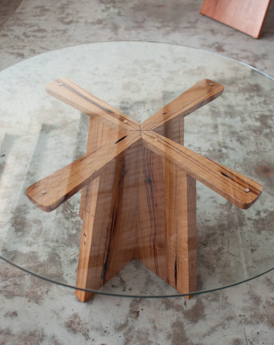 Glass Top Propellor Table