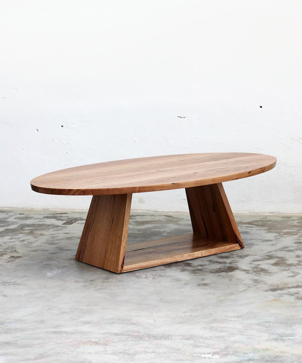 Elliptical Coffee Table Recycled Timber Furniture