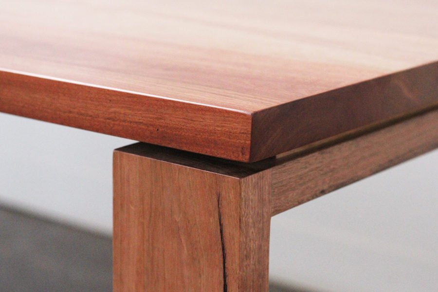 timber desk detail showing joinery and feature