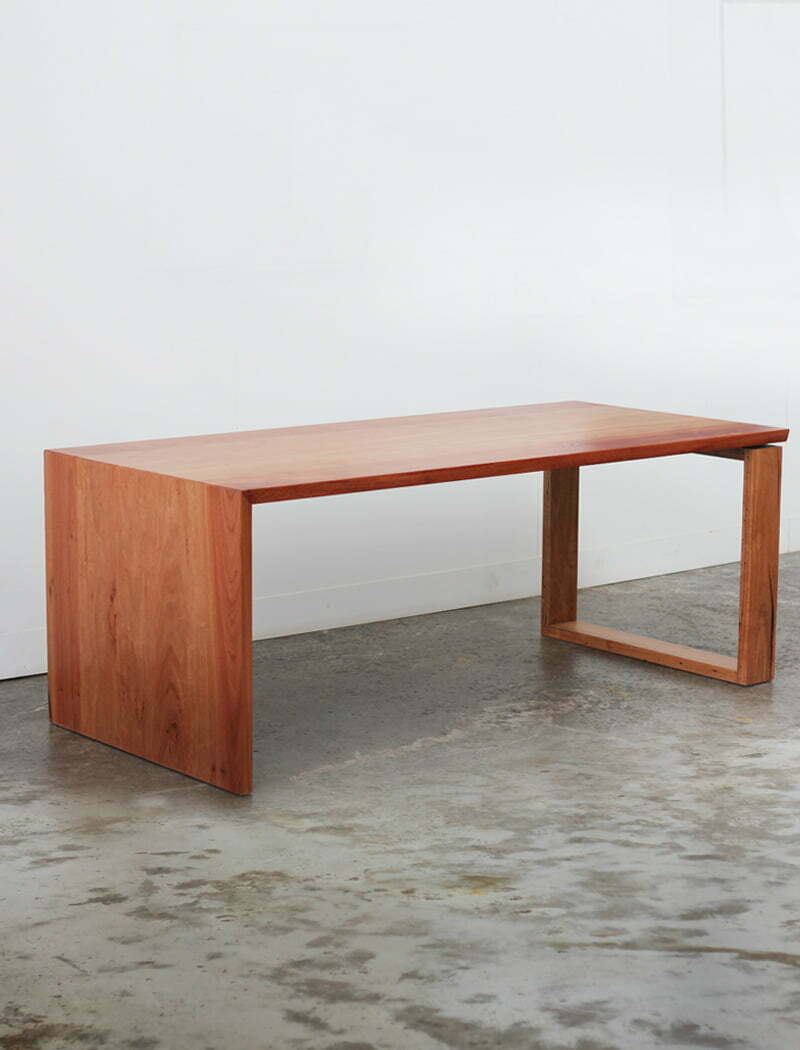 Recycled Southern Mahogany desk against wall