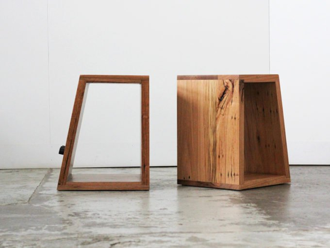 Pair of recycled timber side tables