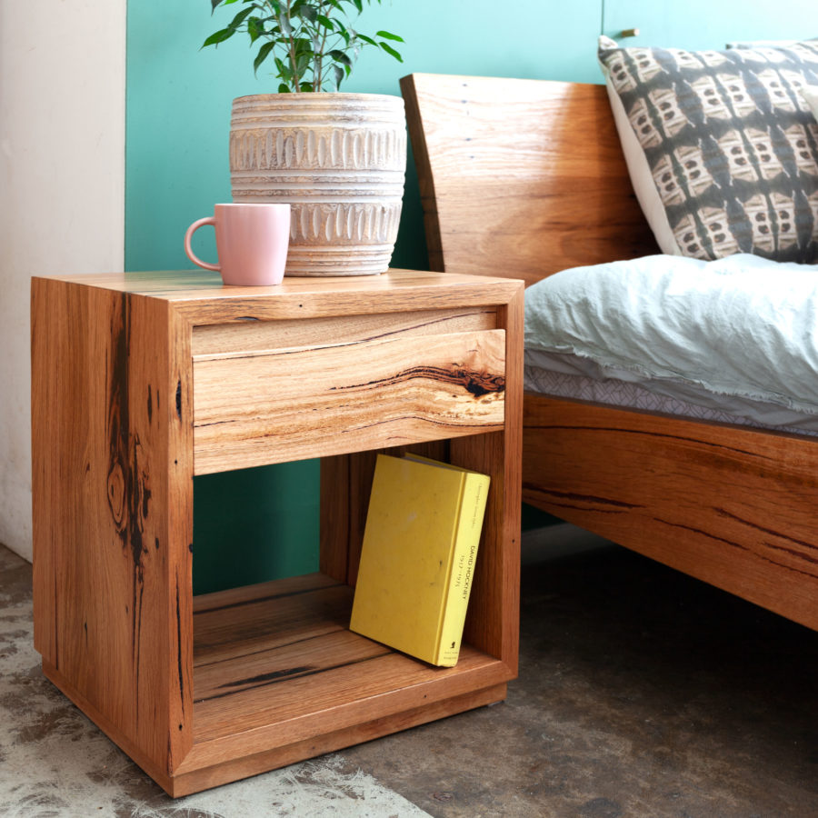 Recycled timber Classic Side Table with Kumo bed
