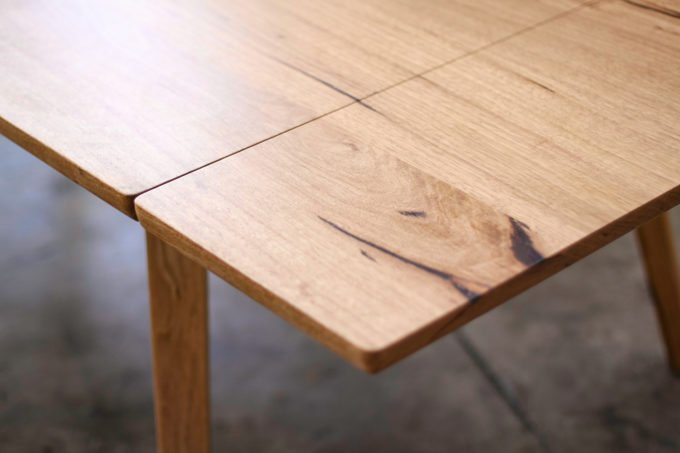 Timber extendable dining table