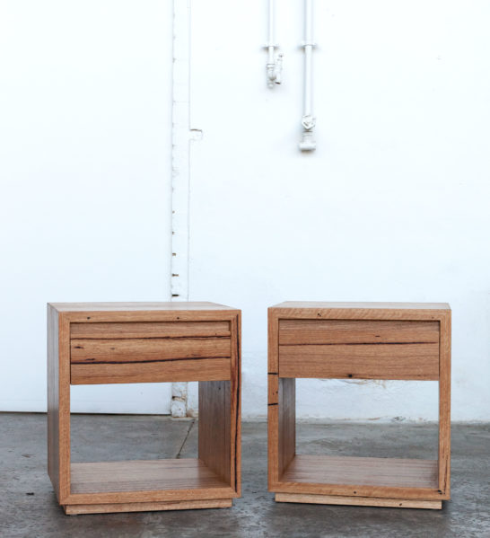 Recycled timber side tables at Yard Furniture in Melbourne