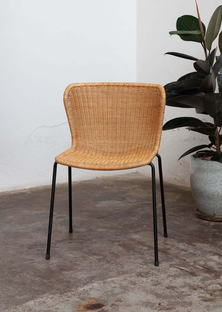 Chair 603 with rattan detail