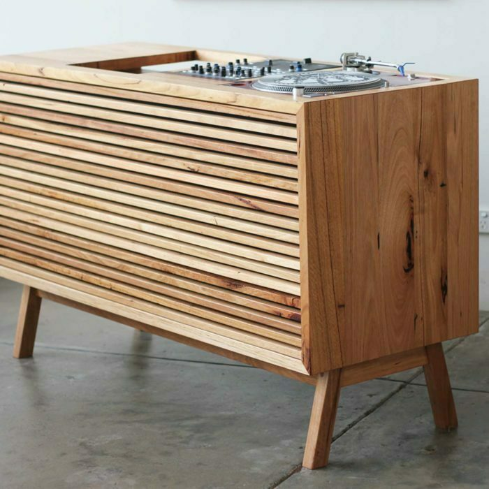 timber custom dj console