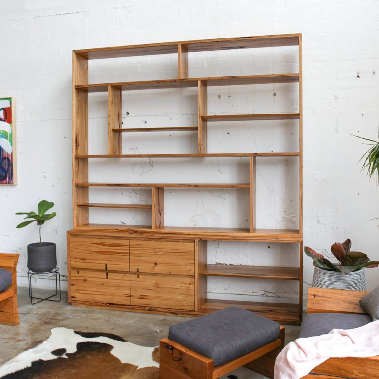 Large Custom Timber Shelving Unit