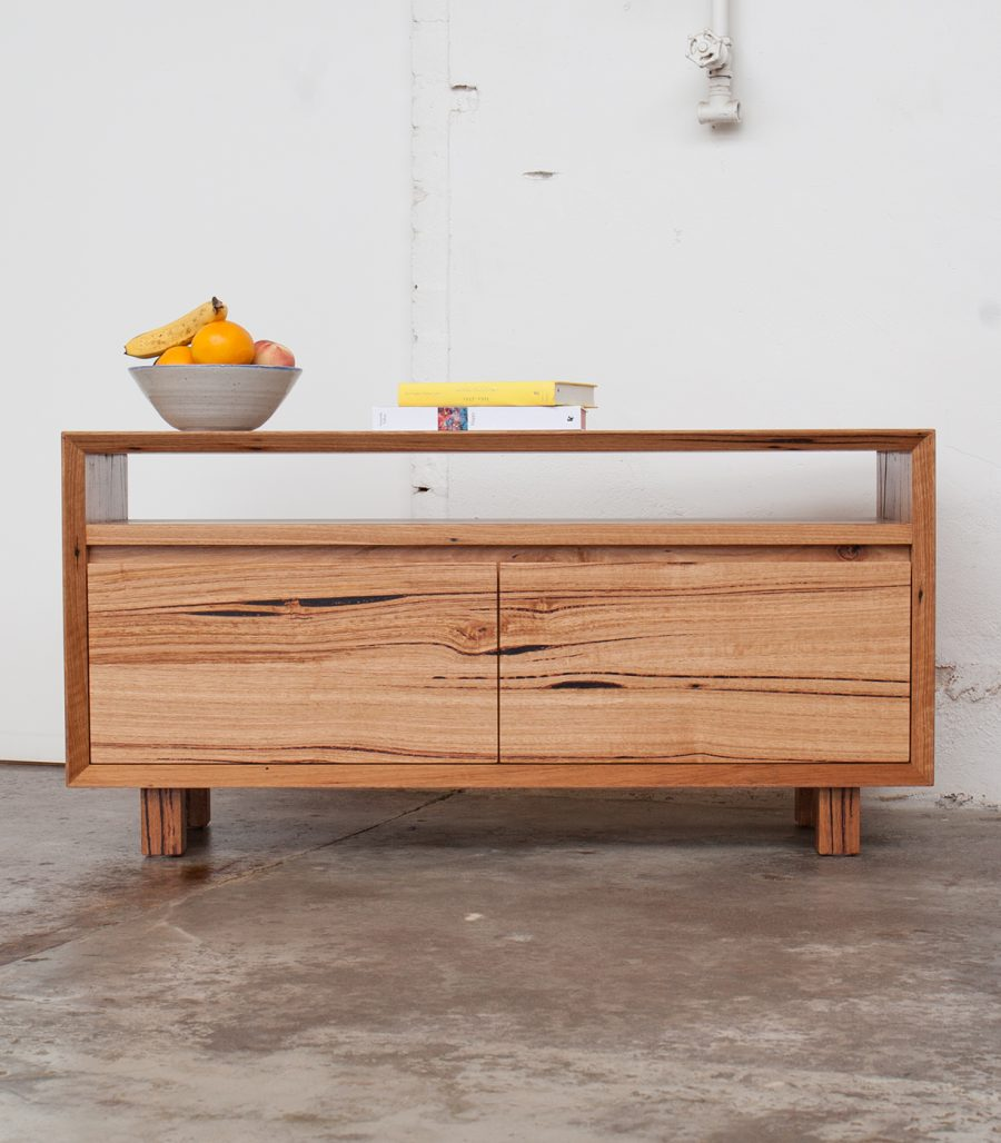 Wally Mini Console Unit made from recycled hardwood in Melbourne