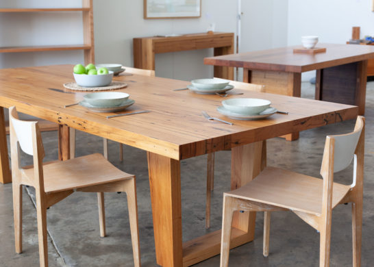 Recycled timber custom dining table