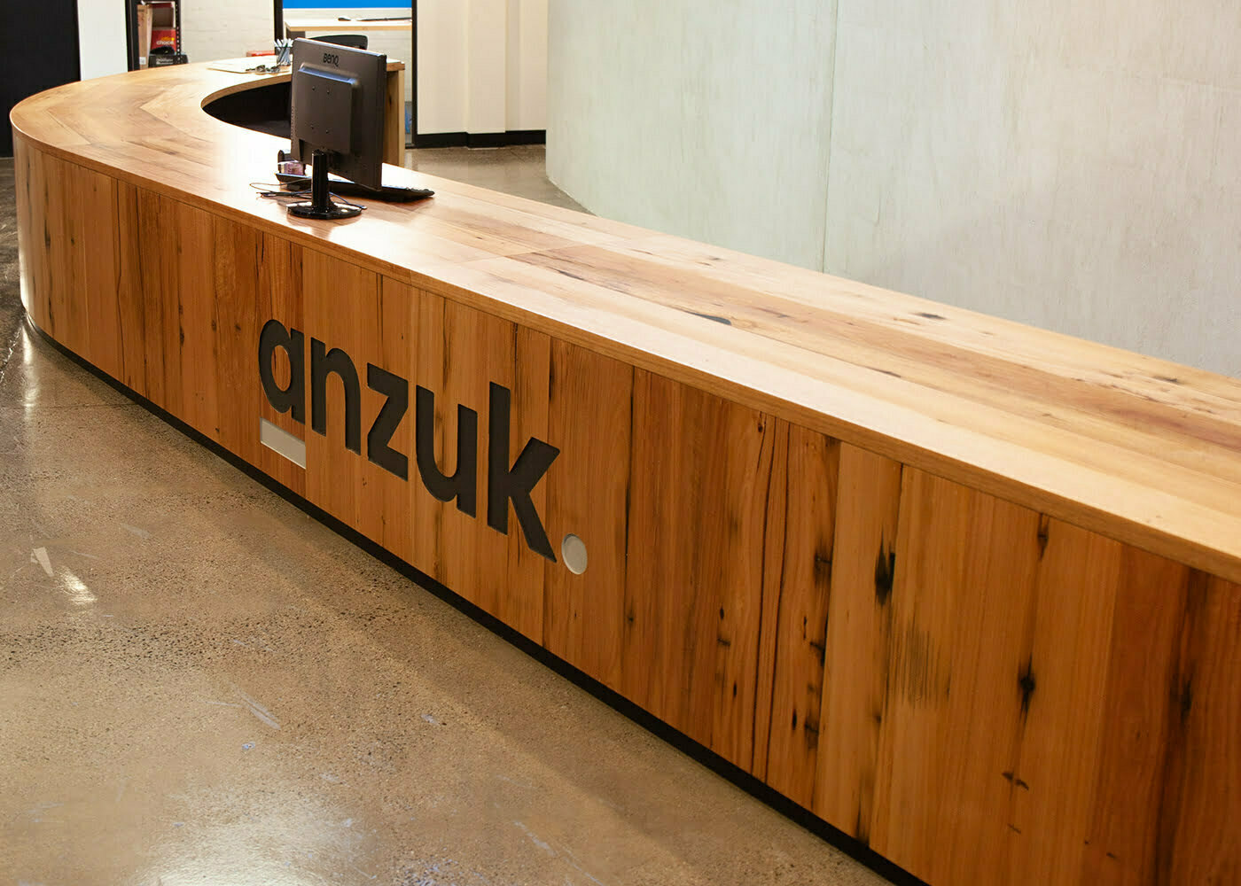 ANZUK custom reception desk