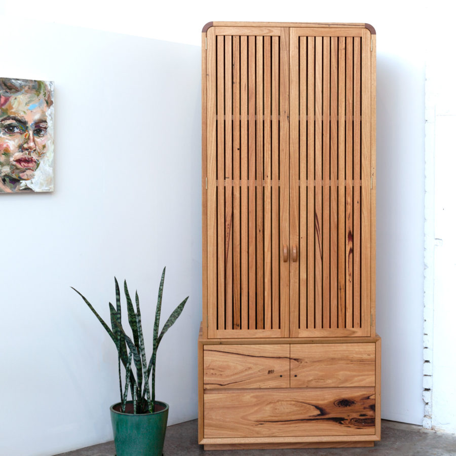 Recycled timber custom wardrobe