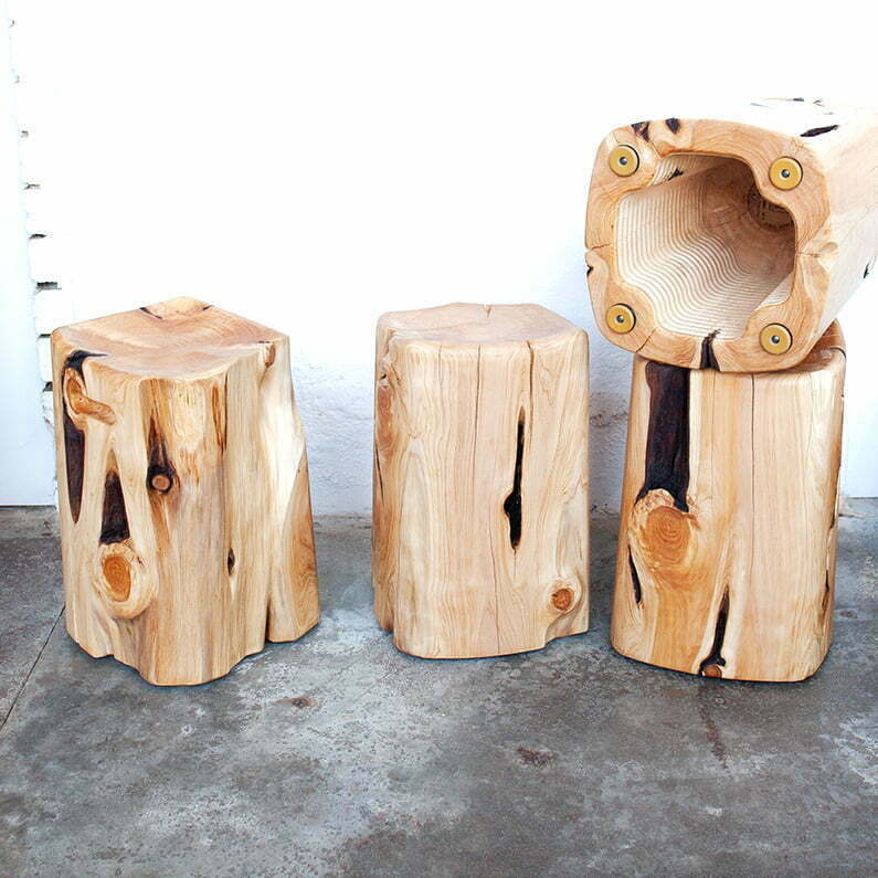 quadlobe cypress stool