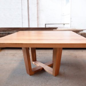 custom crossed legs square dining table