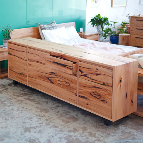 Custom Entertainment Unit made from recycled timber