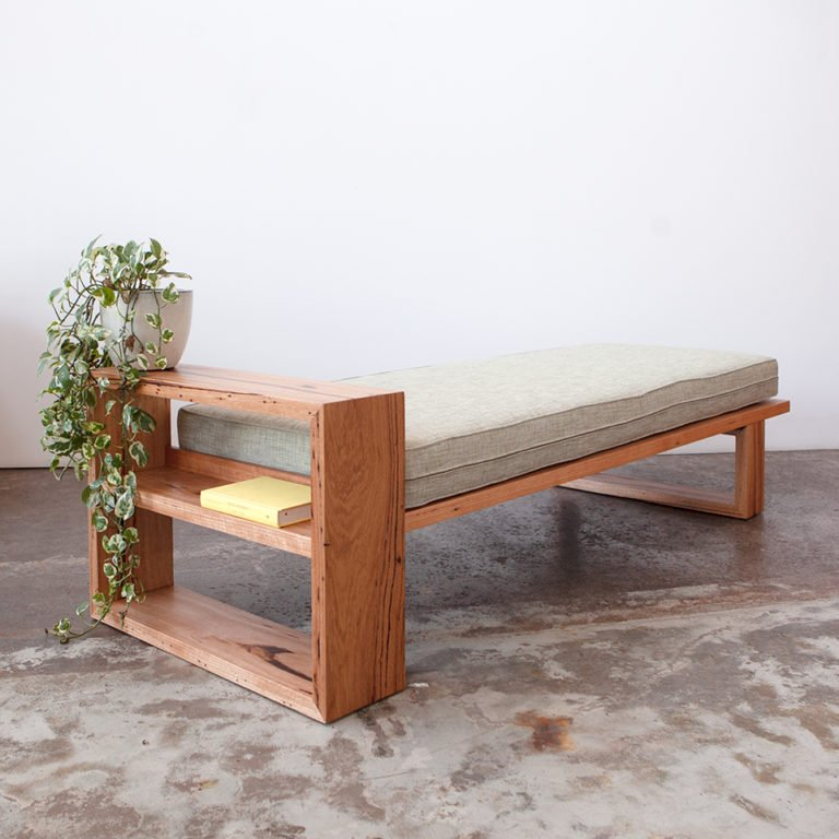 Custom made daybed from recycled Messmate timber here in Melbourne