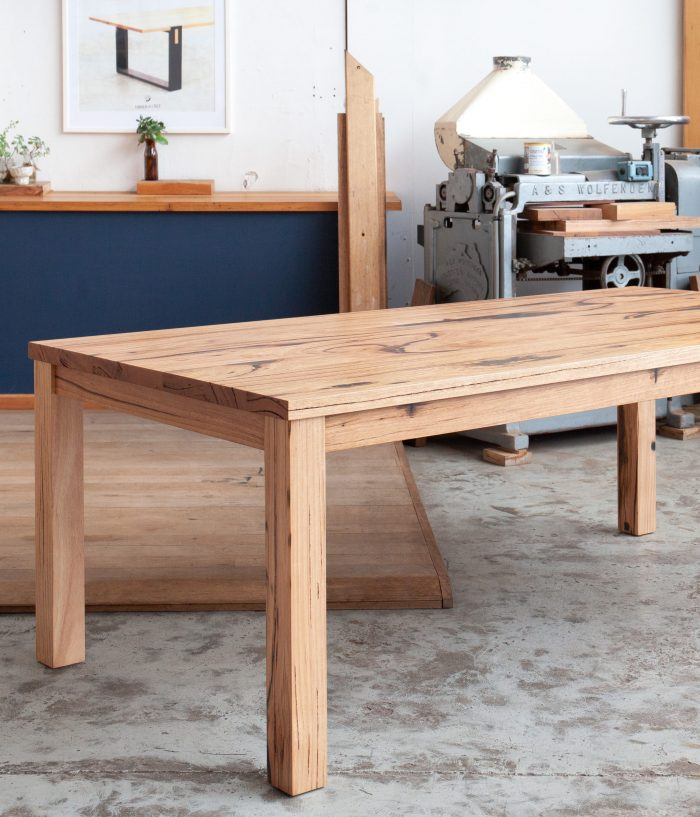 A classic timber dining table