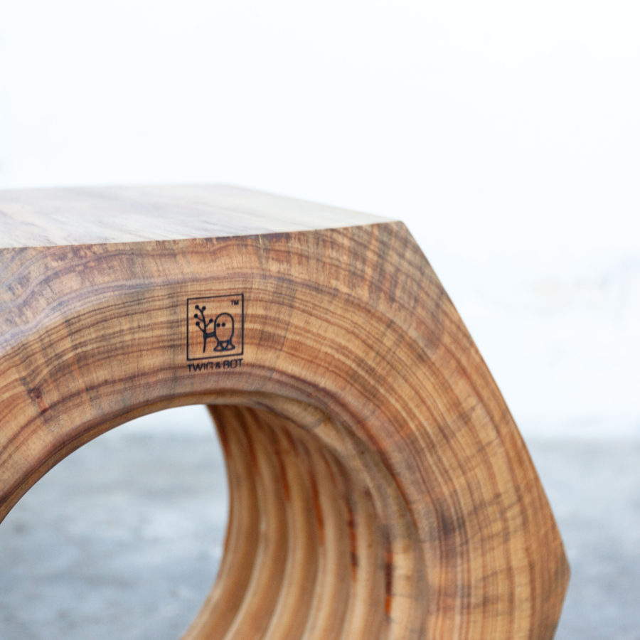 recycled pine sidetable