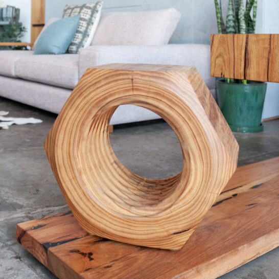 unique recycled timber sidetable