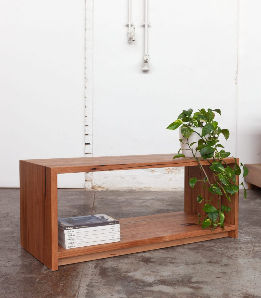 coffee table with plant