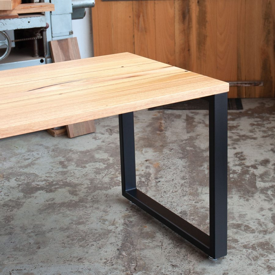 timber home office desk